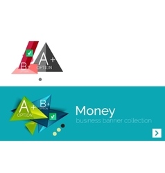 Infographic flat design banner with geometric vector image