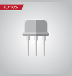 Isolated opposition flat icon resist vector
