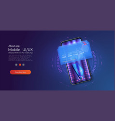 isometric online payment online concept money vector image