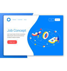 Job design concept vector