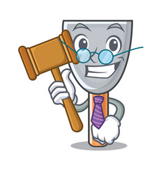Judge vintage putty knife on mascot vector