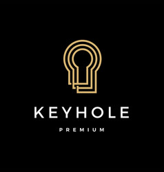 key hole logo icon vector image