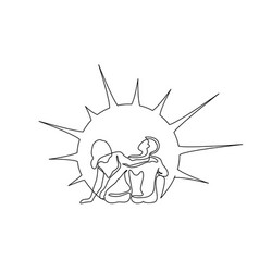 loving happy couple woman and man sitting vector image
