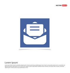 Message icon - blue photo frame vector
