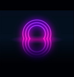 neon futuristic background neon portal with vector image