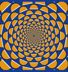 Optical llusion orange crescents vector