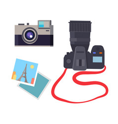 Photo and camera collection vector