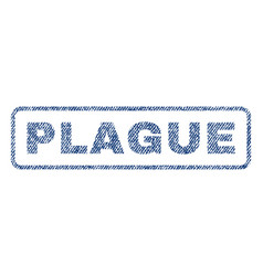 plague textile stamp vector image