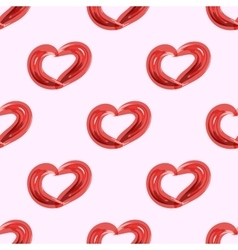 Red heart symbol of love seamless pattern vector image