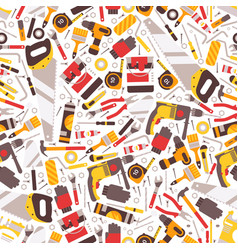 repair tools icons in seamless pattern vector image