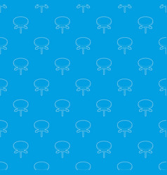round table pattern seamless blue vector image