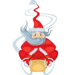 Santa claus sleigh rides vector