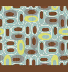 seamless abstract mid-century modern pattern vector image