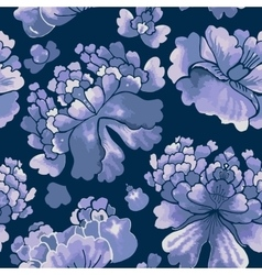 Seamless chinese pattern Watercolor style vector image