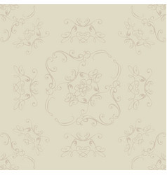 Seamless floral patterns background vector