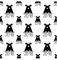 seamless pattern with abstract dog as symbol 2018 vector image