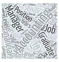 Searching for an accounting job word cloud concept vector