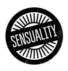 sensuality rubber stamp vector image