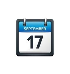 September 17 Calendar icon vector
