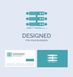 Server structure rack database data business logo vector
