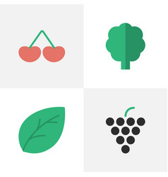 set of simple horticulture vector image