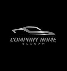 Silver car logo vector
