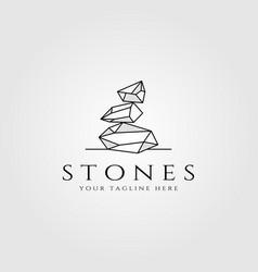 Stone logo line art design vector