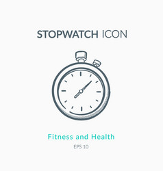 Stopwatch icon on white background vector