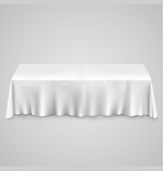Table with tablecloth vector