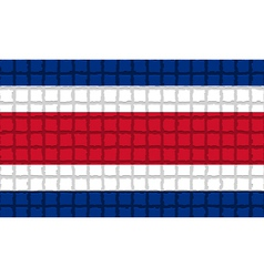 The mosaic flag of Costa Rica vector