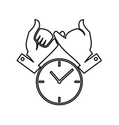 Time watch hand commitment teamwork together vector