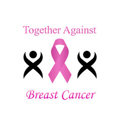 Together against breast cancer vector