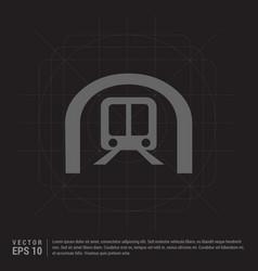 train icon traffic sign icon vector image
