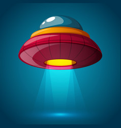 Unidentified flying object - cartoon vector
