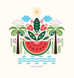 watermelon stylized ilustration vector image