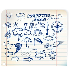 weather hand drawing vector image