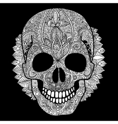 white skull day of the dead vector image