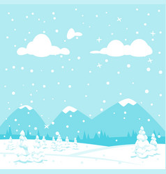 winter background with mountain vector image