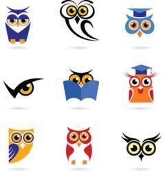 Wise owl vector