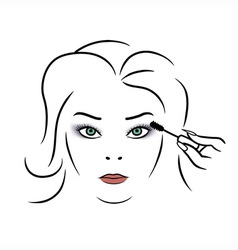 Woman makeup vector image