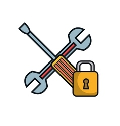 wrench and screwdriver repair service vector image