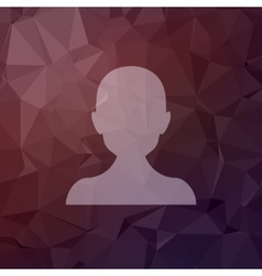 Young guy in flat style icon vector image