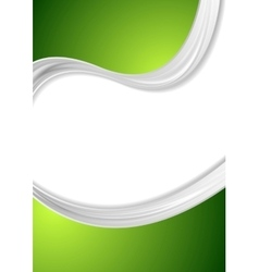 Abstract green wavy flyer corporate design vector image vector image