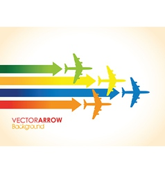 colourful planes vector image vector image