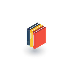 education book library literature isometric flat vector image vector image