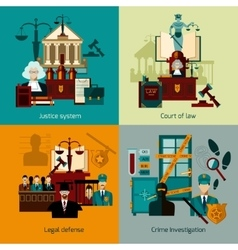 Law Flat Set vector image vector image