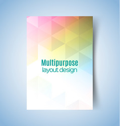 multipurpose layout design5 vector image vector image