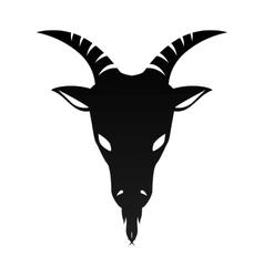 ram goat horn capricorn zodiac sign vector image