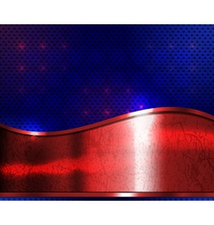 red metal plate vector image vector image