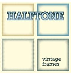 set of halftones background vector image vector image